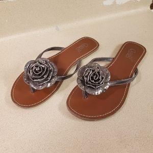 Carlos by Carlos Santana bling flower sandals